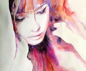 art, colors, and sadness image