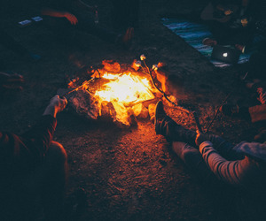 bonfire, camping, and travel image