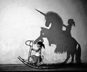 unicorn, Dream, and shadow image