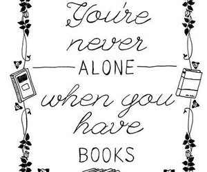 book, alone, and never image