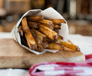 food, fries, and tasty image