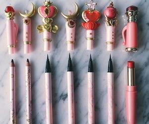 sailor moon, makeup, and pink image