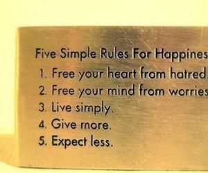 happiness, rules, and quotes image