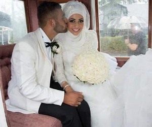 love, hijab, and wedding image