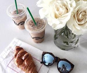 flowers, food, and sunglasses image