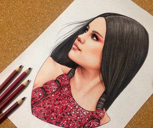 selena gomez, drawing, and art image