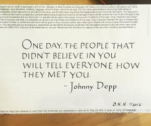 believe, johnny deep, and motivation image