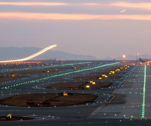 light, airport, and airplane image