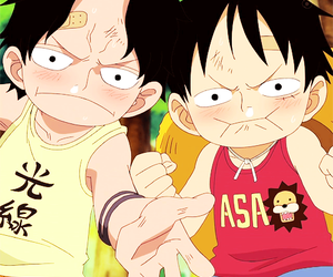 one piece, anime, and monkey d. luffy image