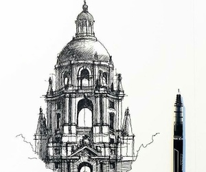 architecture, art, and drawing image