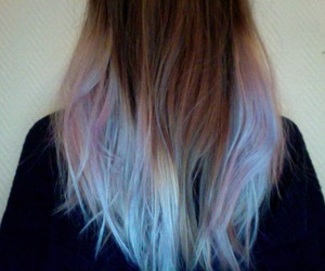 color hair, hair, and girl image