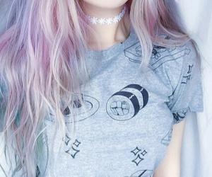 hair, grunge, and pink image