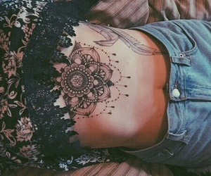tattoo, mandala, and body image
