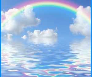 rainbow, colorful, and water image