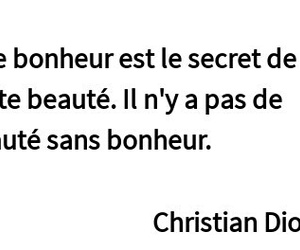 Christian Dior, citation, and veridique image