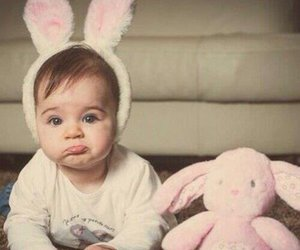 baby, cute, and rabbit image