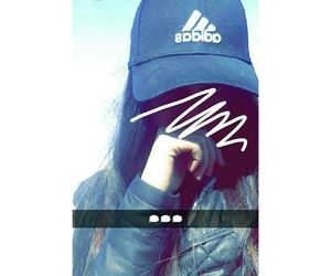 adidas, girl, and snapchat image