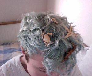 boy, hair, and blue image