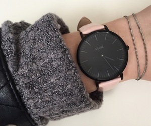 black, pastel, and watch image