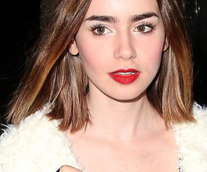 short hair and lily collins image