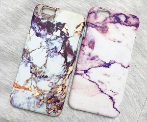 case, iphone, and marble image