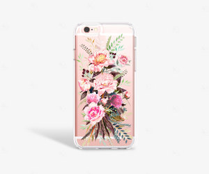 etsy, peony iphone case, and samsung galaxy s7 image