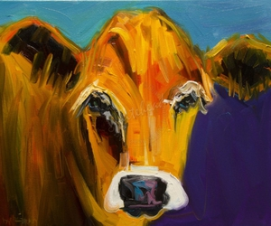 art, cow, and modern image