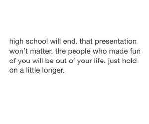 bully, high school, and hold on image