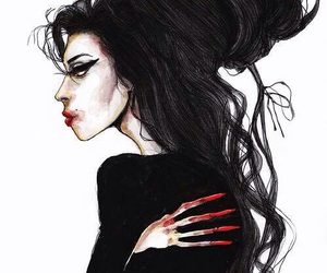 Amy Winehouse, art, and amy image