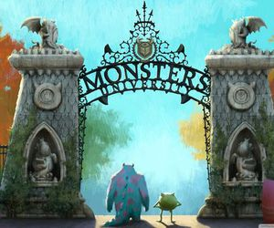 disney, monsters university, and monster image