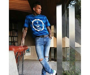 chris brown, fashion, and style image