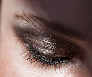 glitter, metallic, and makeup image