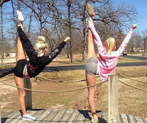 cheer, fitness, and fit image