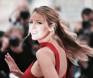 blake lively, red, and gossip girl image
