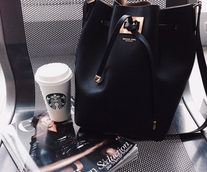 bag, fashion, and starbucks image