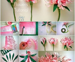 diy, flowers, and paper flowers image