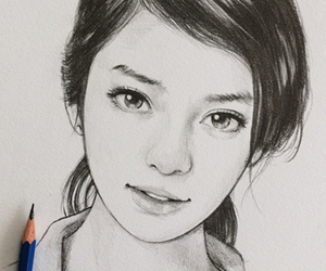 girl and draw image