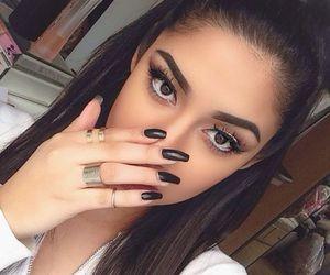 nails, makeup, and hair image