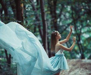 fantasy, girl, and forest image