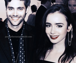 lily collins, alec lightwood, and matthew daddario image