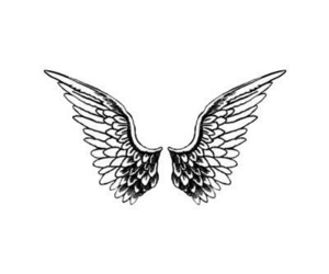 wings, angel, and overlay image
