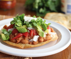 crispy, vegetarian, and tostadas image
