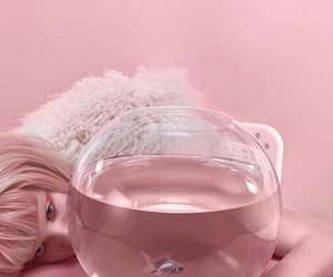 pink, aesthetic, and fish image