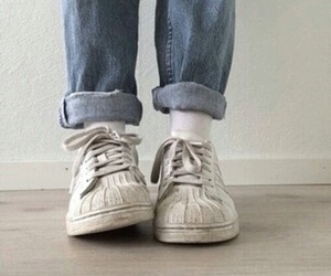 adidas, jean, and old school image