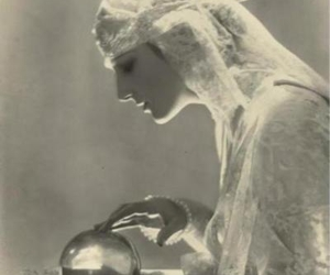 crystal ball, lace, and vintage image