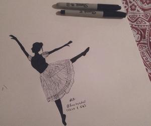 art, pen, and ballerina image