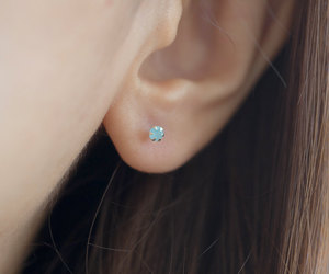 etsy, moonstone jewelry, and tiny earrings image