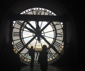 clock and world image