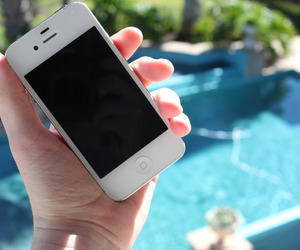 iphone, pool, and photography image