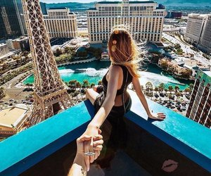 Las Vegas, couple, and travel image
